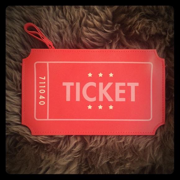 ipsy bags ticket stub novelty make up bag clutch poshmark